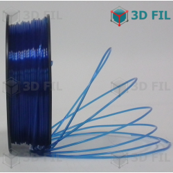 Bobine 1kg PLA Transparent Bleu - 1.75mm