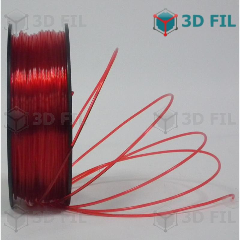 Bobine 1kg PLA Rouge transparent - 1.75mm