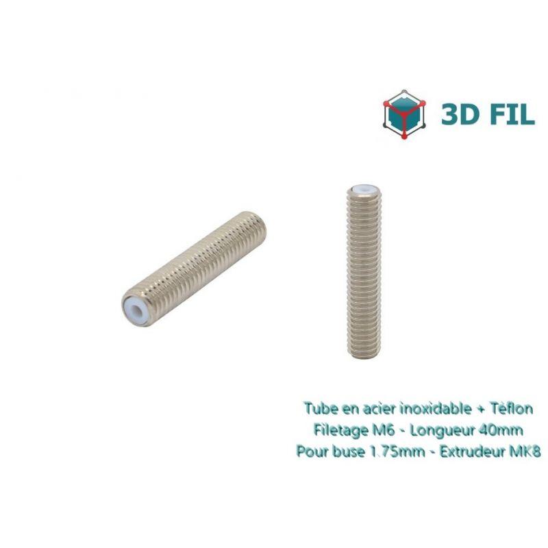 Tube PTFE pour tête MK8 / 1.75mm / 40mm