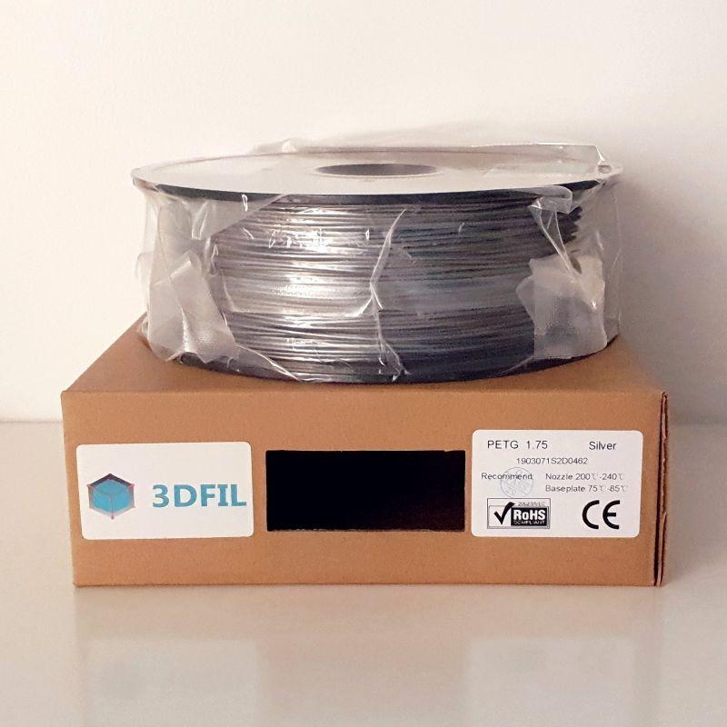 Bobine 1kg PETG Argent - 1.75mm