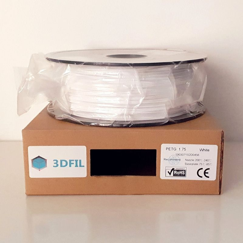 Bobine 1kg PETG Blanc - 1.75mm