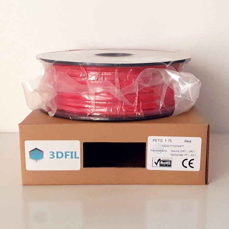 Bobine 1kg PETG Rouge - 1.75mm