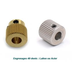 Engrenage pour extrudeur MK7/MK8 / 40 dents