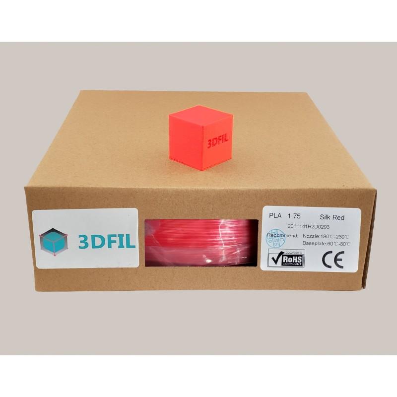 Bobine 1kg PLA Rouge (effet soie) - 1.75mm