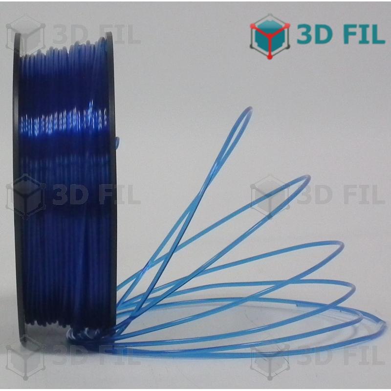 Bobine 1kg PLA Bleu transparent - 1.75mm