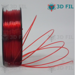 Bobine 1kg PLA Transparent Rouge - 1.75mm