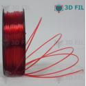 Bobine 1kg PLA Transparent Rouge - 1.75mm