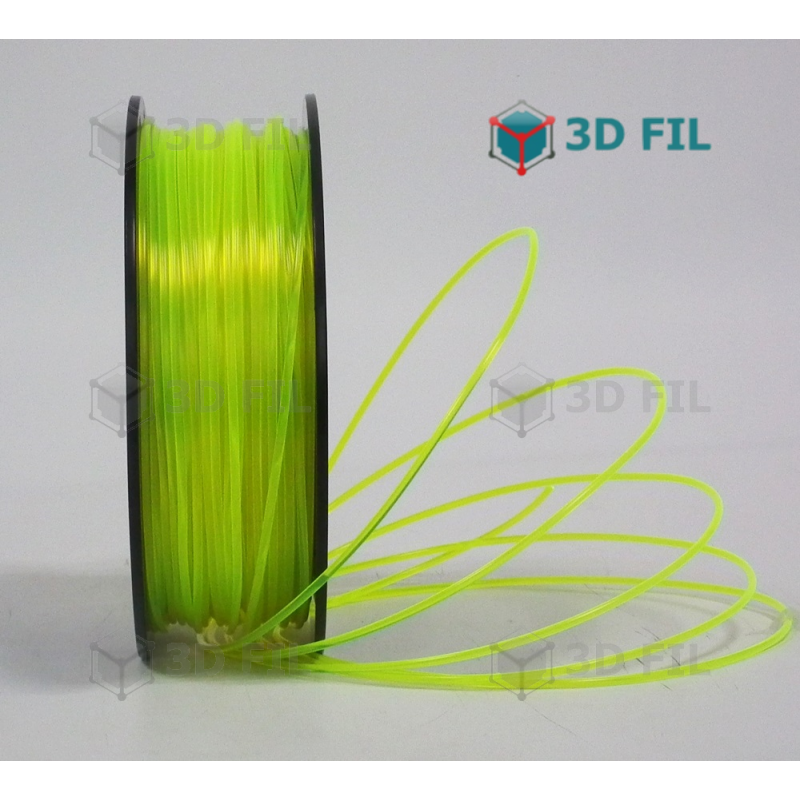 Bobine 1kg PLA Jaune transparent - 1.75mm