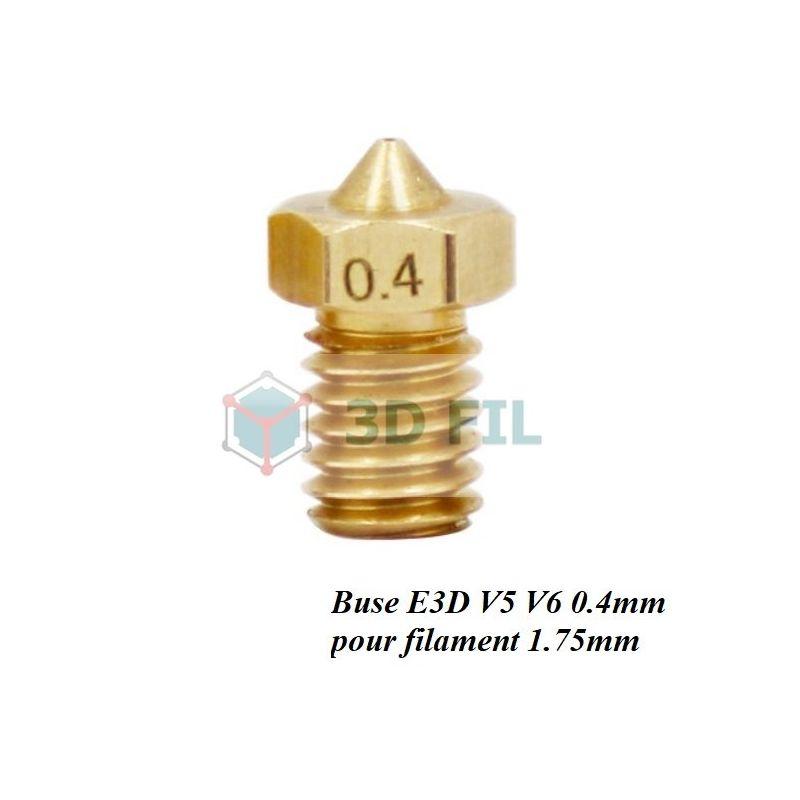 Buse laiton 0.4mm / E3D V5 V6