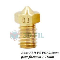 Buse laiton 0.3mm / E3D V5 V6