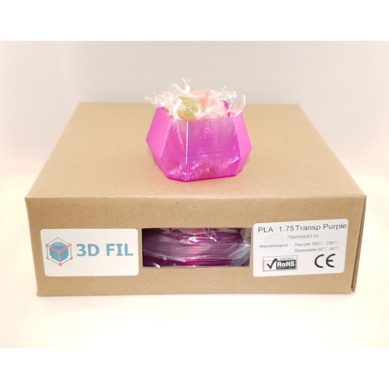 Bobine 1kg PLA Violet transparent - 1.75mm