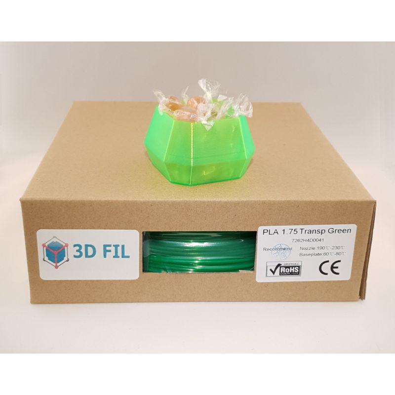Bobine 1kg PLA Vert transparent - 1.75mm