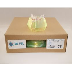 Bobine 1kg PLA Transparent Jaune - 1.75mm
