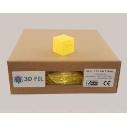 Bobine 1kg PLA Jaune (effet soie) - 1.75mm