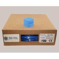 Bobine 1kg PLA Bleu (effet soie) - 1.75mm