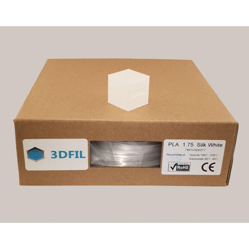 Bobine 1kg PLA Blanc (effet soie) - 1.75mm