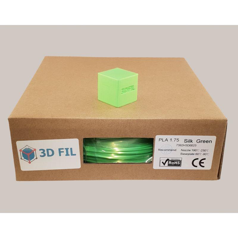 Bobine 1kg PLA Vert (effet soie) - 1.75mm