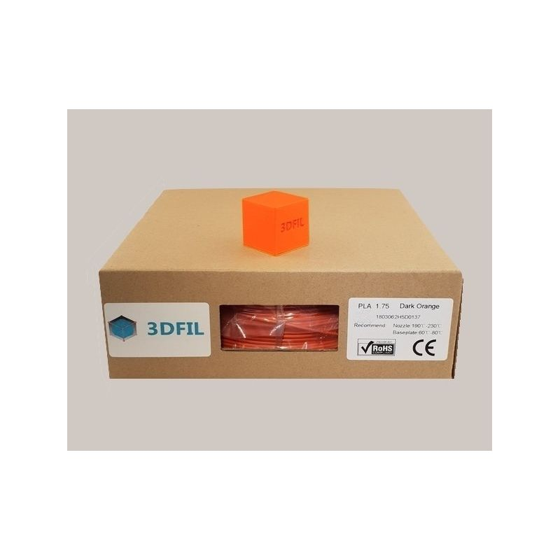 Bobine 1kg PLA Orange foncé - 1.75mm