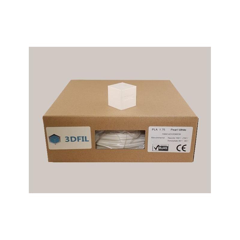 Bobine 1kg PLA Blanc Perlé - 1.75mm